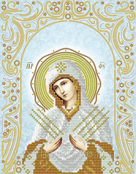 Схема для вышивки бисером Семистрельная Пресвятая Богородица