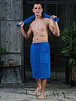 Набор 2 предмета. Комплект - килт(большое банное полотенце на липучке) и среднее. Подарок мужчине для бани.