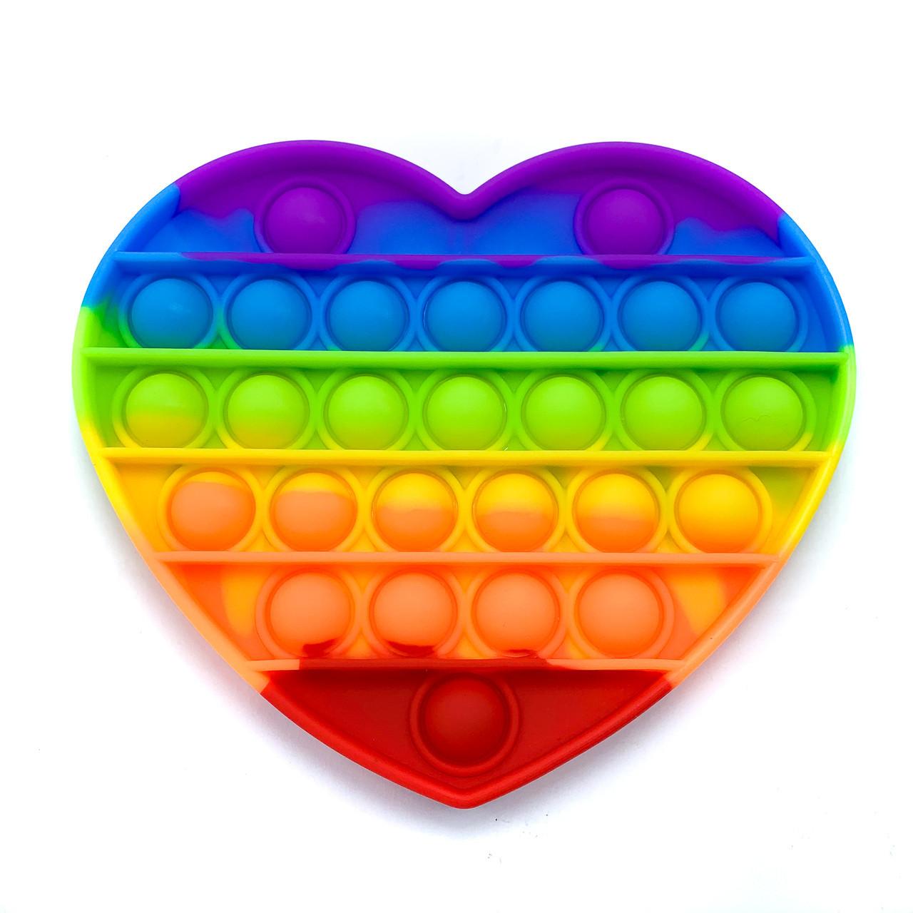 Сенсорная игрушка Антистресс Pop It Сердце