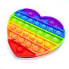 Сенсорная игрушка Антистресс Pop It Сердце, фото 4
