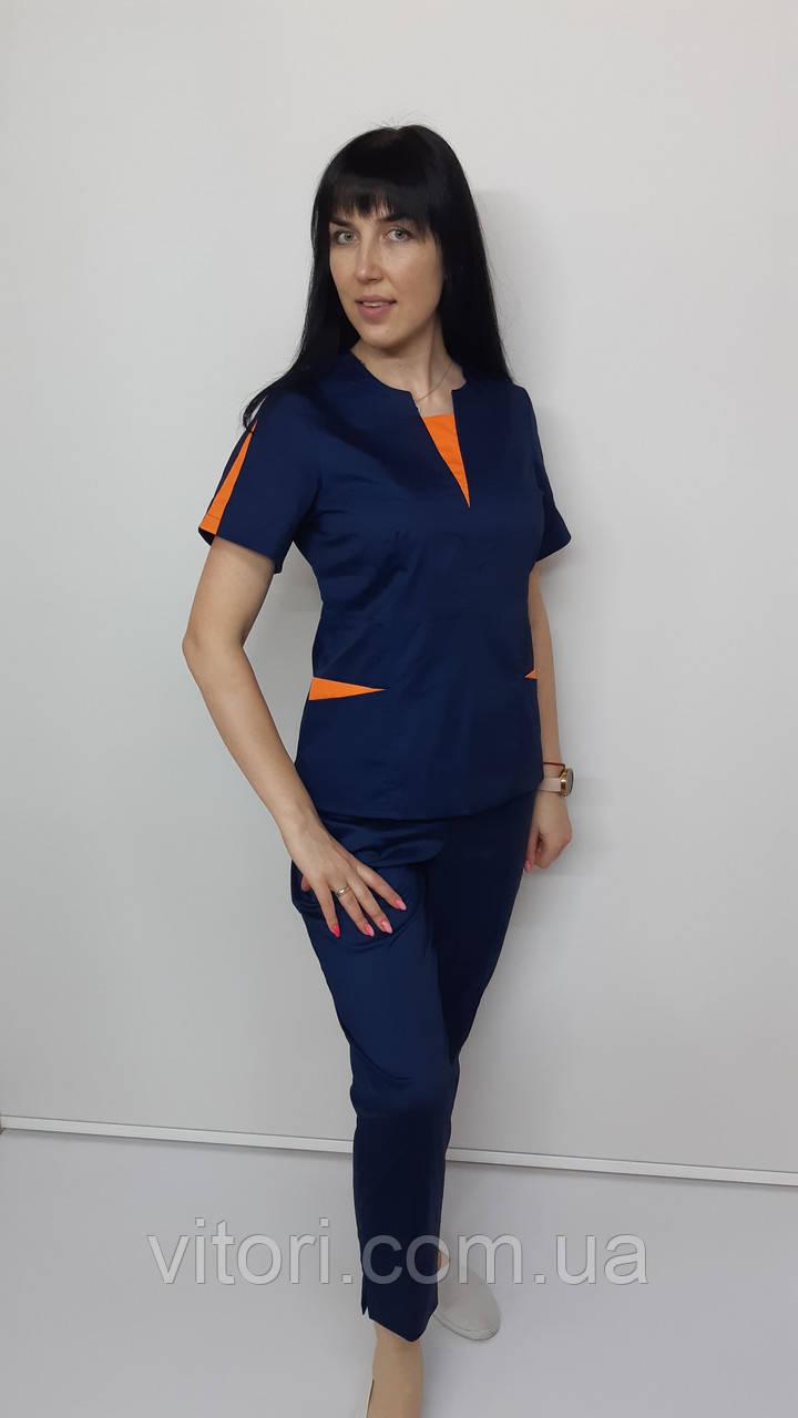 Костюм женский медицинский  Оскар хлопок  брюки укороченные