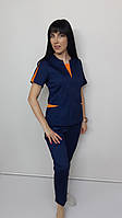 Костюм женский медицинский  Оскар хлопок  брюки укороченные, фото 1