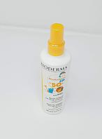 Детский солнцезащитный спрей Биодерма без парабенов с защитой spf +50