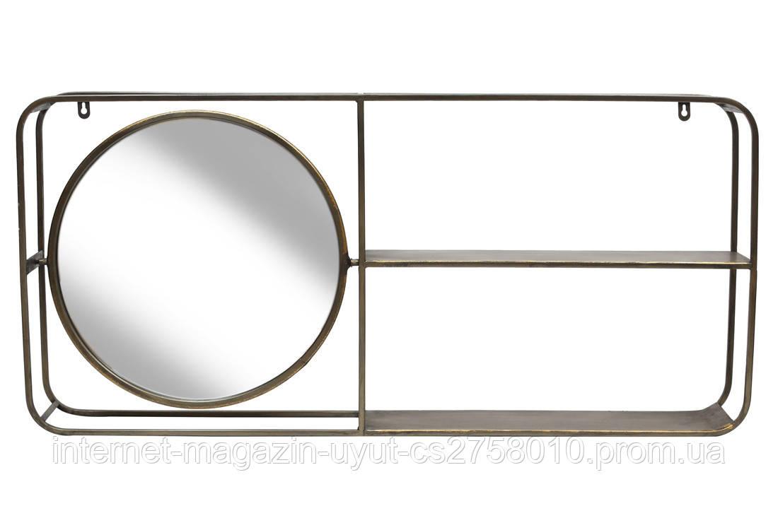 Полиця металева настінна з дзеркалом, 92*43см BonaDi 589-218