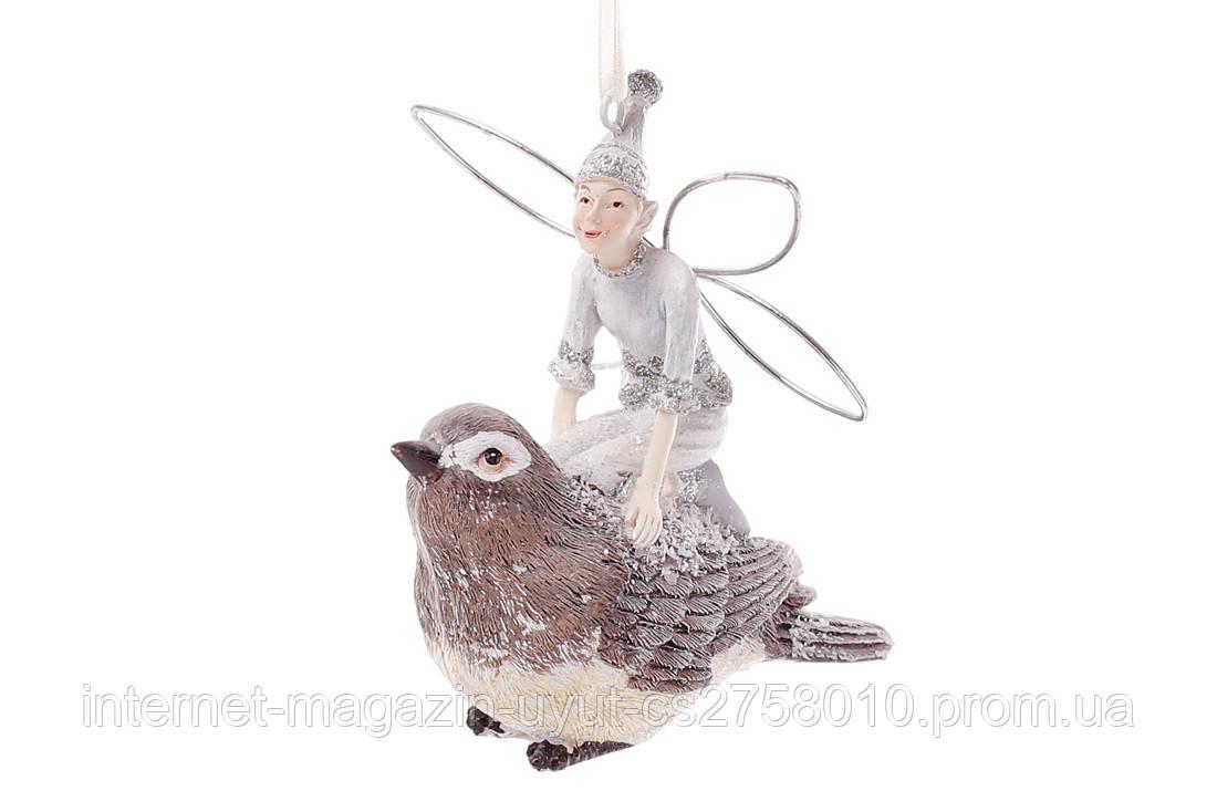 Набор 4 декоративных статуэток Фея на птичке, 18см BonaDi 838-151
