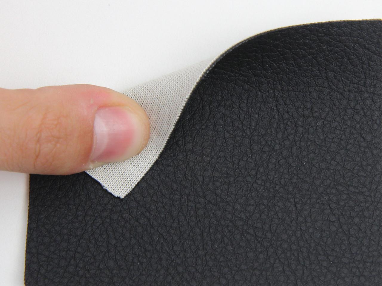 Чорний Кожзам для сидінь авто (текстурний BMW 09-316) на тканинній основі, ширина-1.80 м