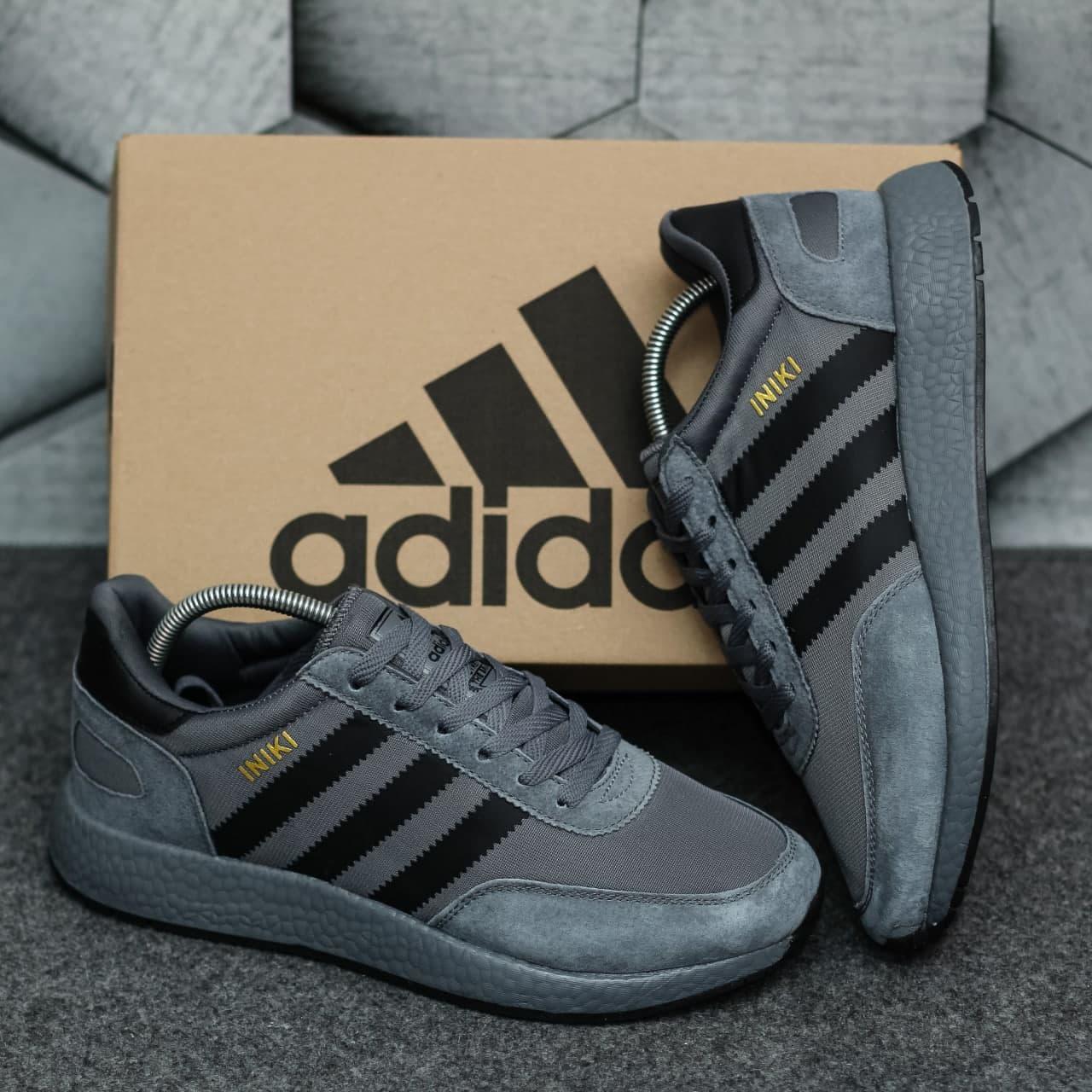 Мужские кроссовки Adidas Iniki Dark Grey