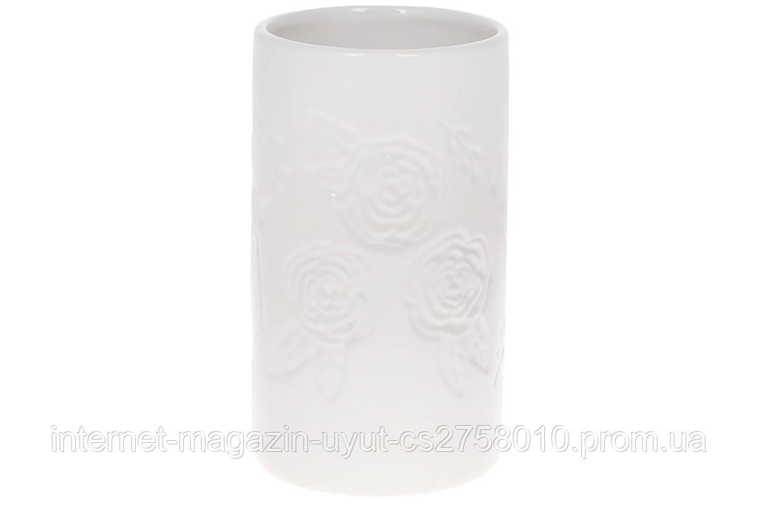 Ваза керамічна 19см, колір - білий BonaDi 733-412