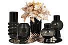 Стеклянная ваза Форте 26см, цвет - черный оникс BonaDi 420-105, фото 3