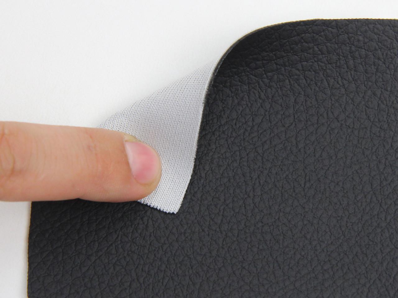 Чорний Кожзам для сидінь авто (текстурний BMW 09-69) на тканинній основі, ширина-1.80 м