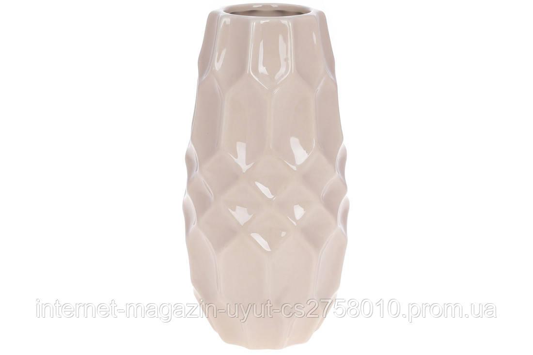 Ваза керамическая 20см, цвет - бежевый BonaDi 733-471