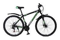 """Велосипед найнер Champion Spark 29"""" 17"""" Черный-Зеленый-Белый"""