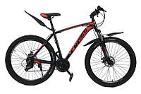 """Велосипед Cross Leader V2 27.5"""" 19"""" Черный-Синий-Красный"""