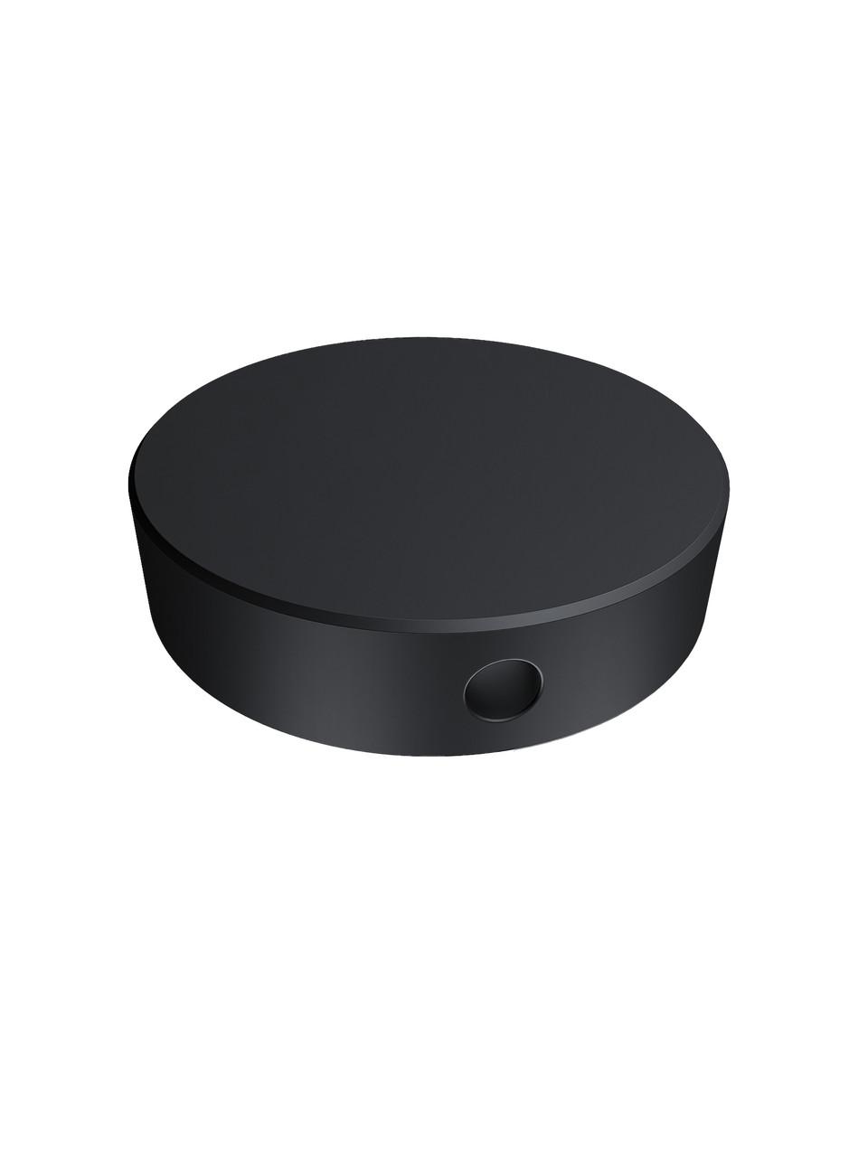 ODF-06-19-21 Конектор круглий d40 з боковим отвором М10, для скляних огороджень і поручнів, чорний