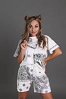 Костюм женский летний шорты и футболка, фото 1
