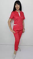 Костюм жіночий медичний Оскар коттон укорочені брюки, фото 1