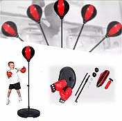 Боксерська груша рукавички - тренажер для боксу Sport Toys Punching Ball дитячий, фото 3