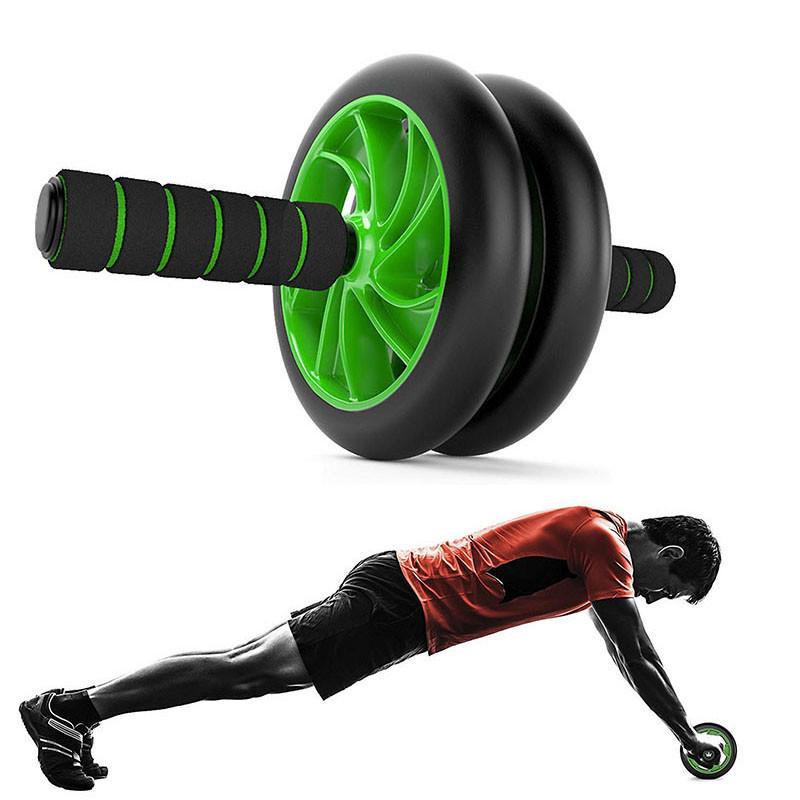 Гімнастичне спортивне колесо Double wheel Abs health abdomen round | Тренажер-ролик для м'язів