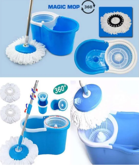Универсальная швабра с отжимом-центрифугой и ведром Easy Mop