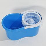 Универсальная швабра с отжимом-центрифугой и ведром Easy Mop, фото 10