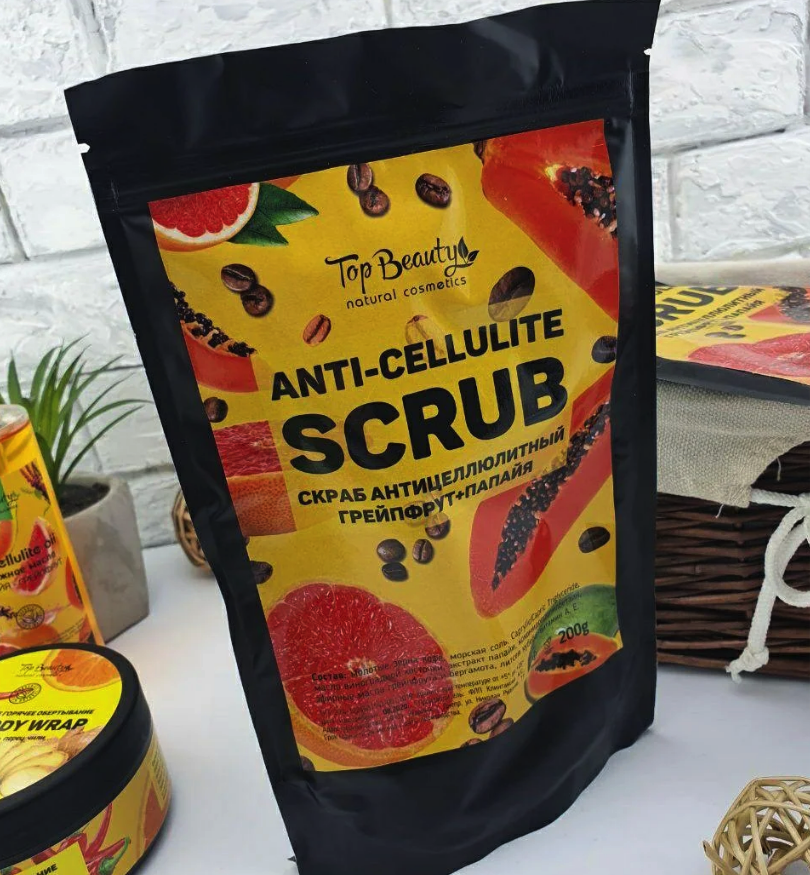 Антицелюлітний скраб Top Beauty Anti-Cellulite Scrub Грейпфрут - Папайа, 200 g