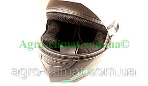 Шлем  FXW HF-111 черный мат с зелёным, фото 2