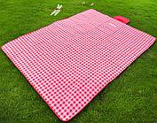 Коврик покрывало для пляжа и пикника 150*150 см Красный Код 104