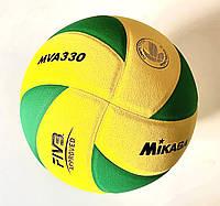 Мяч волейбольный MKS MVA-330 желто/зеленый JAPAN, фото 1