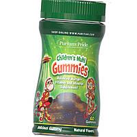 Витамины для детей Puritan's Pride Children's Multi Gummies 60 жевательных конфет