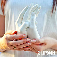 3D Набор слепок рук Love Story для Влюбленных