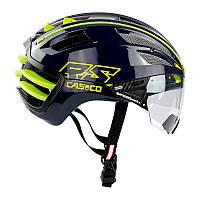 Велошлем Casco SPEEDairo 2 RS Blue-Neon - Yellow incl.vautron visor