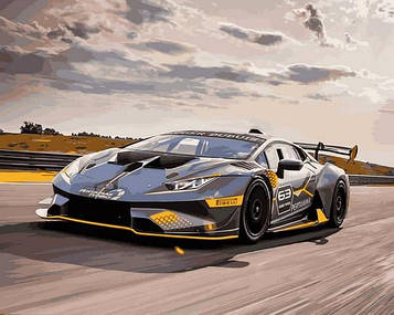 Картини за номерами 40×50 см Babylon Lamborghini Huracan Super Trofeo EVO (VP 1403)