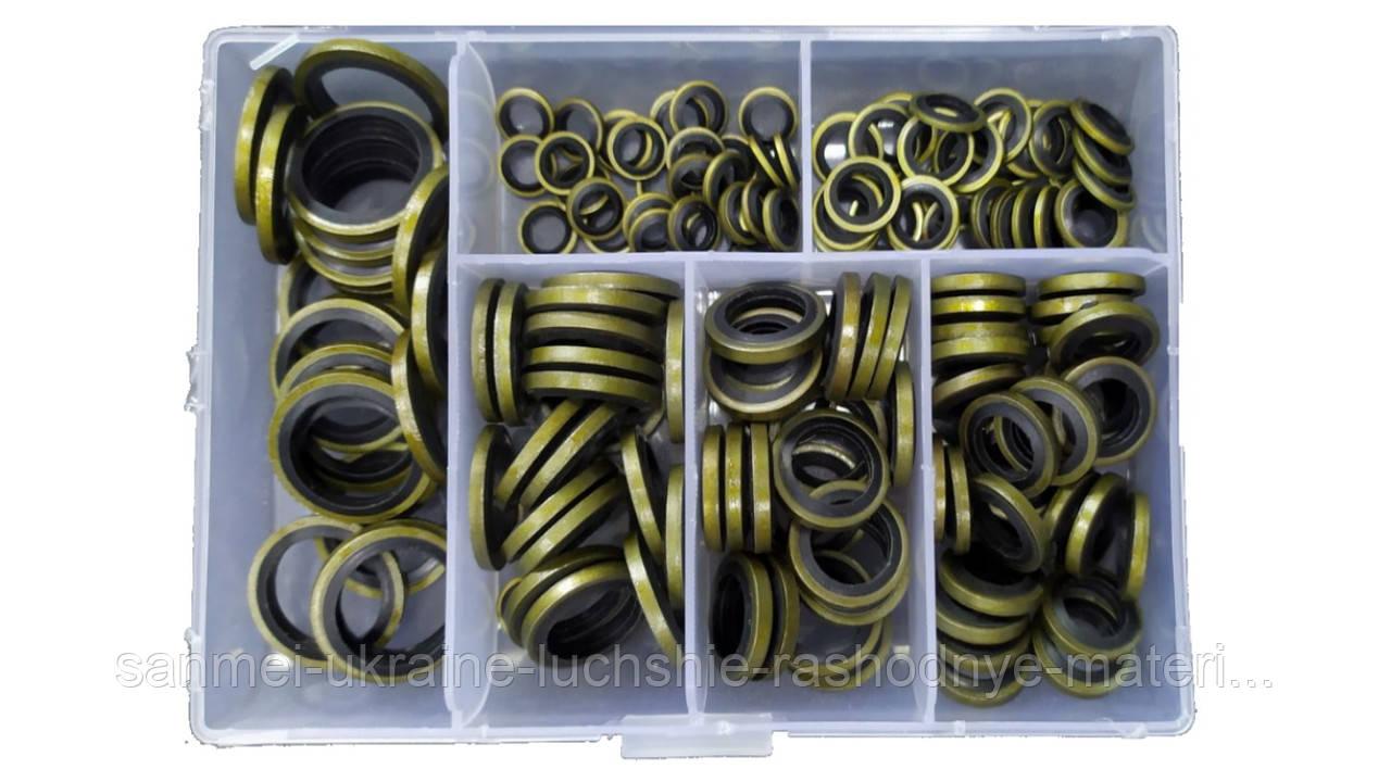 Набор шайб метал с резиновыми кольцами