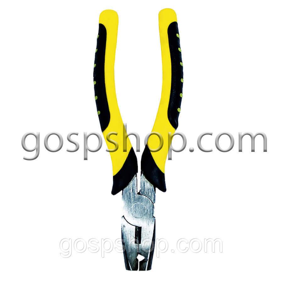 Плоскогубці скобообжимные (жовті)