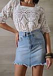 Кружевная летняя блуза с квадратным вырезом и рукавом до локтя (р. 42-46) 7913497, фото 4