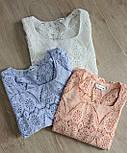 Кружевная летняя блуза с квадратным вырезом и рукавом до локтя (р. 42-46) 7913497, фото 3