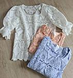 Кружевная летняя блуза с квадратным вырезом и рукавом до локтя (р. 42-46) 7913497, фото 6