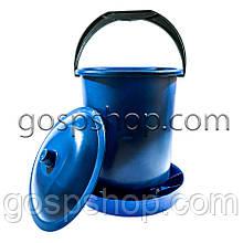 Бункерная кормушка 11,7л / 7,9 кг с крышкой для перепелов, бройлеров, кур несушек, индюков, уток и гусей