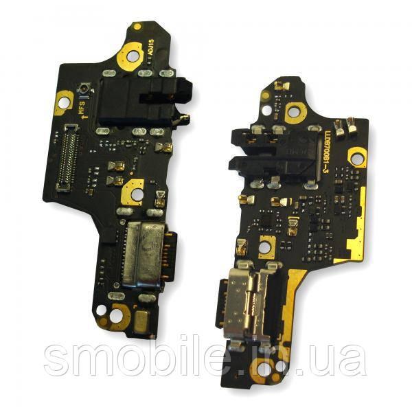 Роз'єм зарядки Xiaomi Poco X3 NFC плати з роз'ємом під навушники і мікрофон (оригінал Китай)
