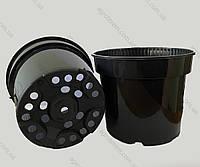 Горшок 19см х 15см. 3л.(Польша),  технологический для рассады, круглый, черный.