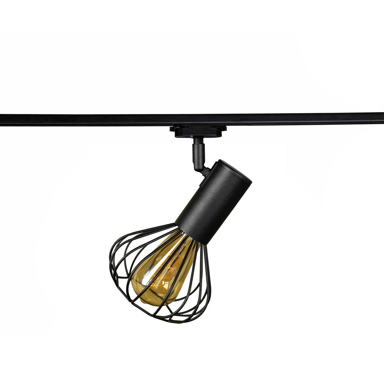 Світильник трековий MSK Electric Lotus в стилі лофт NT 14151-1 BK