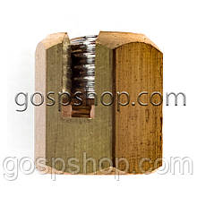 Зажим латунный для троса 4 мм