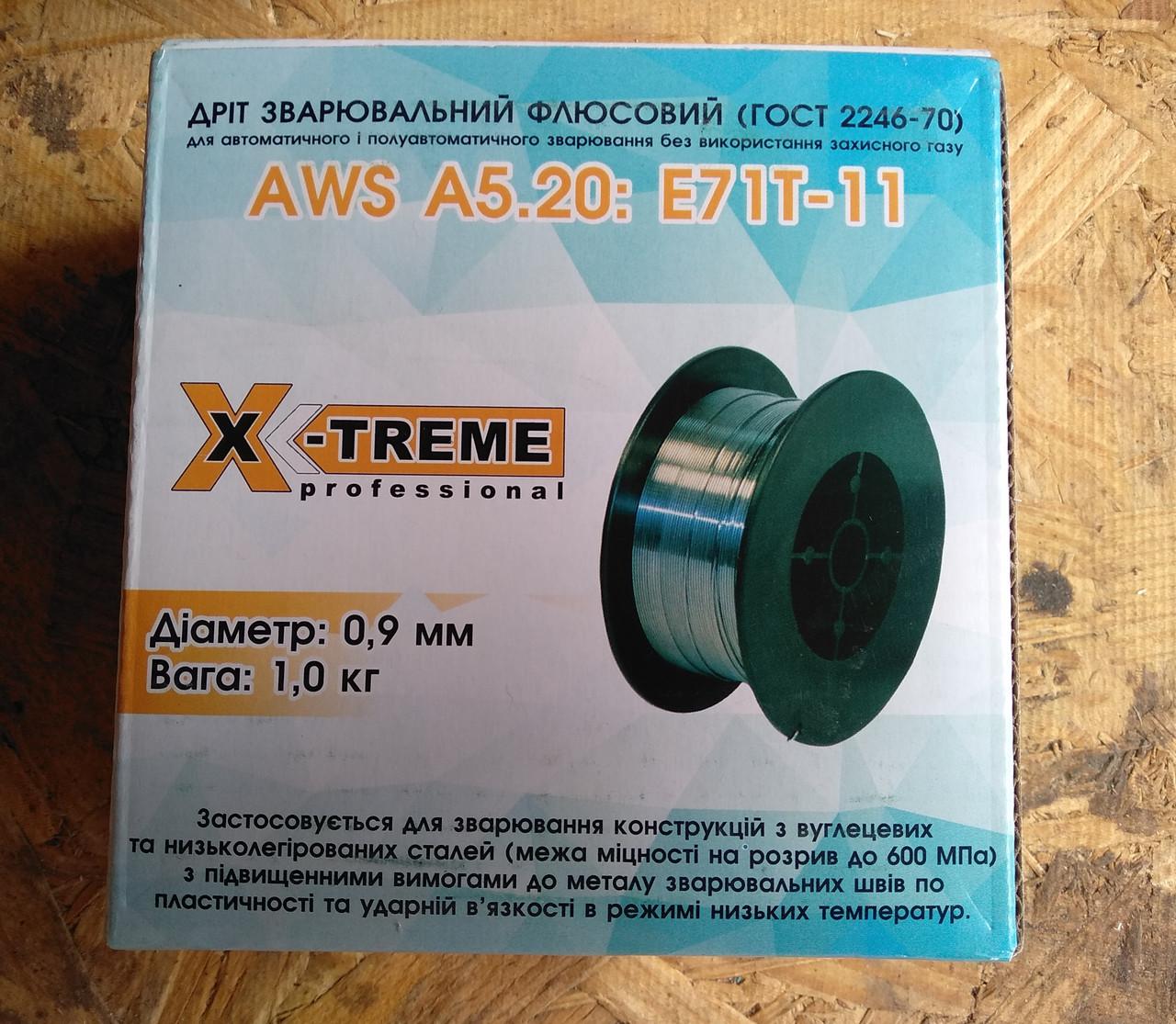 Дріт зварювальний порошковий X-Treme professional AWS A5.20: E71T-11 0,9 мм 1кг.