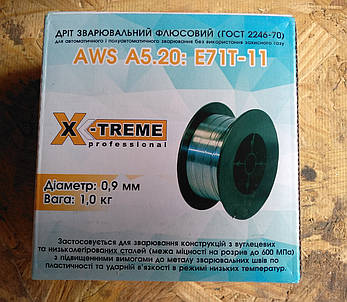 Дріт зварювальний порошковий X-Treme professional AWS A5.20: E71T-11 0,9 мм 1кг., фото 2