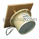 Жаростійкий вентилятор з квадратної панеллю і зворотним клапаном для саун, лазень, фото 3
