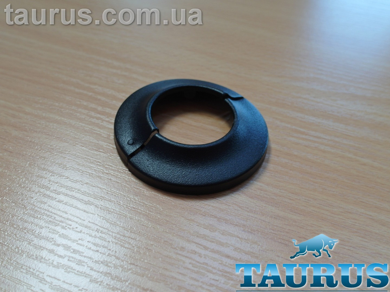 """Чорний розбірний декоративний фланець - чашка DUO D65 / висота 12 мм Black, внутрішній розмір d1"""" d32мм"""