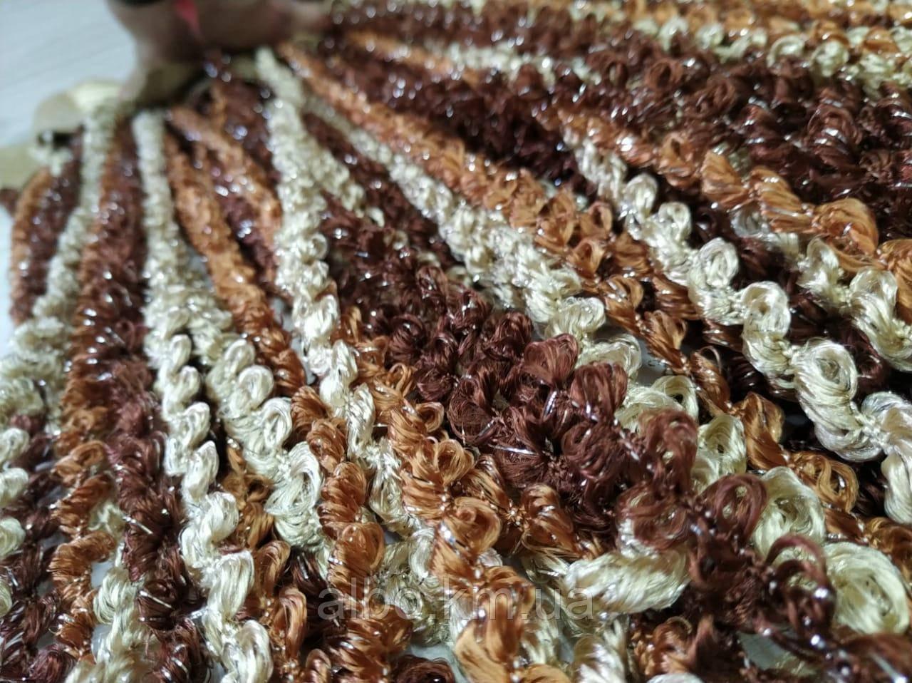 Штори нитки веселка 300x280 cm Венго-шоколад-кава (NS-204)