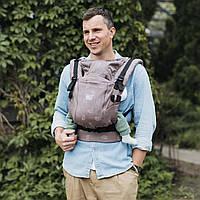 Эрго-рюкзак ONE+ Cool Хоуп для новорожденных с сеточкой на спинке Love & Carry Рюкзак для переноски детей Урба, фото 1
