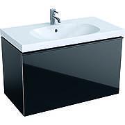 500.612.16.1 Geberit Acanto Тумба для умывальника 90 см, корпус: лакированый матовый/ черный, фасад: черное