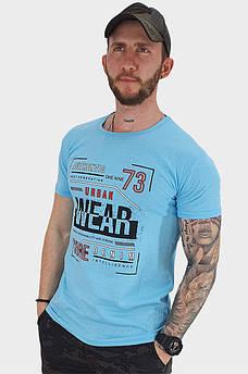 Футболка мужская голубая 132798S